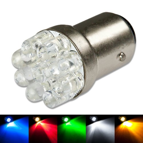 1156 Ba15S 9-Led Blue Light Bulb