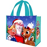 Vandor 65073 Rudolph Holly Jolly Christmas Large Recycled Shopper Tote, Multicolor