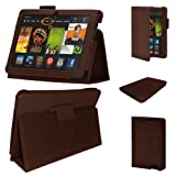 Stuff4 MR-KFHDX8.9-LMAG-BR-STY-SP PU Leather Professional Portfolio Magnetic Case/Stand Cover for 8.9 inch Kindle Fire HDX 8.9 - Brown