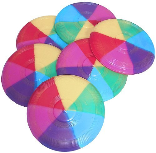 Mini Rainbow Flying Discs (1 dz)
