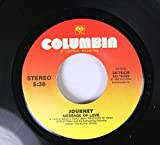 JOURNEY 45 RPM MESSAGE OF LOVE / WHEN YOU LOVE A WOMAN