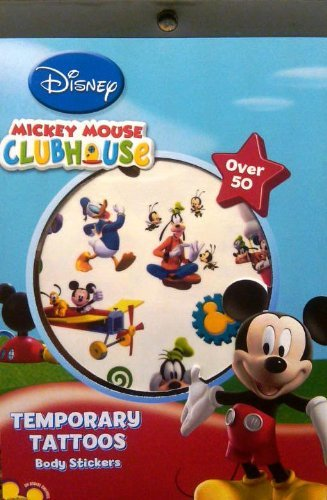 Mickey's Clubhouse Temporary Tattoo Book Party Accessory