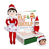 Elf On The Shelf Bundle - The Elf On The Shelf: Christmas Tradition Book With Light Skin Blue Eyed G