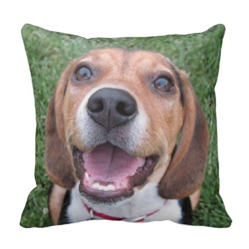 Adorable Beagle Throw Pillow