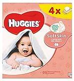 HuggiesToallitas Para Bebé Piel Suave Quads 56S (Paquete de 6)