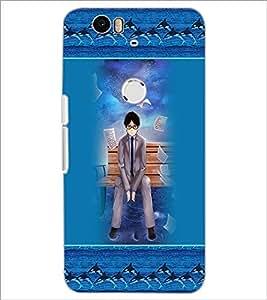 PrintDhaba Sad Boy D-3166 Back Case Cover for HUAWEI NEXUS 6P (Multi-Coloured)