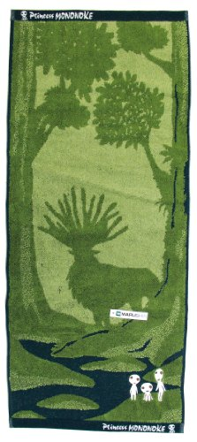 [Kodama N] Mononoke Hime towel, jacquard and embroidery.