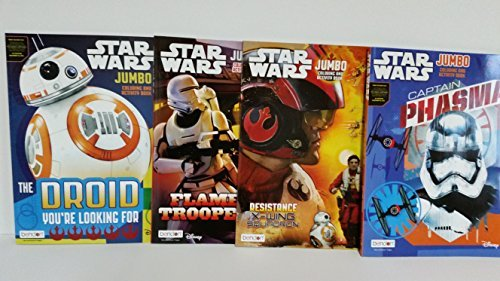 4 Star Wars Jumbo Coloring and Activity Books from the New Film The Force Awakens 2015