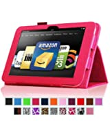"Fintie Kindle Fire HD 8.9"" Slim Fit Leather Case with Auto Sleep/Wake for Amazon Kindle Fire HD 8.9 (will not fit HDX models) - Magenta"