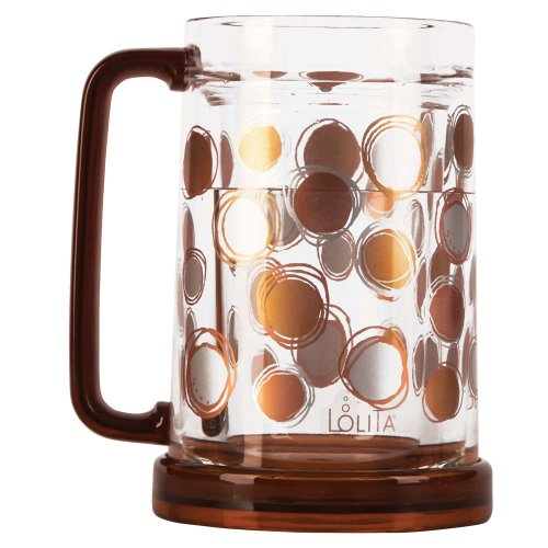 C.R. Gibson Lolita Acrylic Freezer Mug, 16-Ounce, Circles In Motion Too front-186972