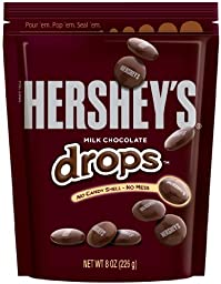 HERSHEY\'S Drops (Milk Chocolate, 8-Ounce Pouches, Pack of 4)