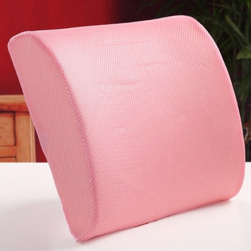 New Memory Foam Seat Chair Pink Lumbar Back Pain Support Cushion
