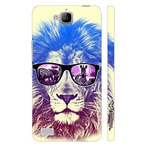 Huawei Honor 3c Lion Shades designer mobile hard shell case by Enthopia