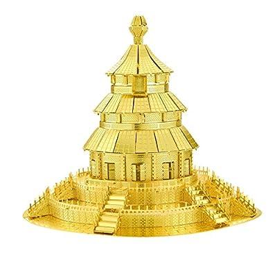 Tiny 3D Laser Cut Metal Kits Famous Buildings of the World Tiantan of Peking Model Nano Puzzle-Pro