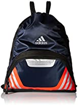adidas Team Speed II Sackpack, Collegiate Navy/Bold Orange/Grey, One Size