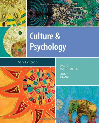 Culture and Psychology (PSY 399 Introduction to...