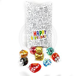 Lindt Chocolate Happy Birthday Pouch - Lindor Truffles- By Moreton Gifts