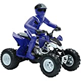 Radio-Controlled ATV Scooter Forward and reverse tire treads Requires 5 AA -B
