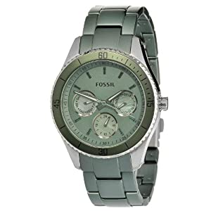 Fossil Women's ES3039 Stella Green Aluminum and Stainless Steel Watch