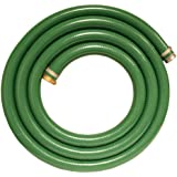 "Apache 98128035 2"" x 15' PVC Style G (Green) Suction Hose  with Aluminum Pin Lug Fittings"