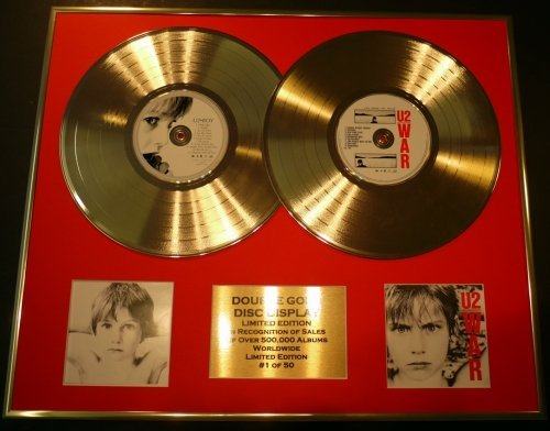 U2/double CD Disco d'oro & Foto Display/Edizione LTD/Certificato di autenticità/BOY & WAR