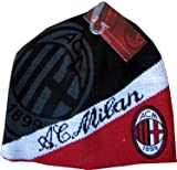 Ac Milan Hat Cap Beanie Official Uefa Soccer Brand New Winter Warm Quality Knit