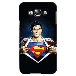 ColourCrust Samsung Galaxy E7 Mobile Phone Back Cover With Superman - Durable Matte Finish Hard Plastic Slim Case
