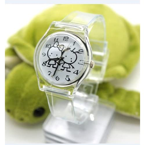 Cool Super Soft New Style Fashion Transparent Silicone Japan movement Girl Lady Quartz Watch Lovely Best Gift