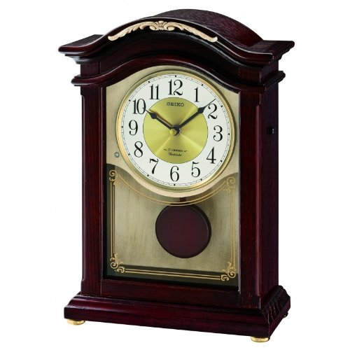 Seiko Dacca Dark Brown Pendulum Desk Clock QXW431BLH