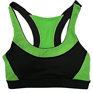 Women's 6 Pack Contrast Color Racerback Padded Athletic Yoga Sports Bras