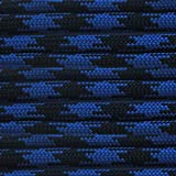 Paracord Planet Nylon 550lb Type III 7 Strand Paracord Made in the U.S.A. -Black & Blue-