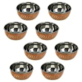 Serveware Katoris Indian Utensils Copper Dinnerware Serving Bowl Set Of 8