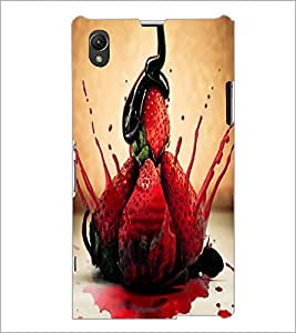 PrintDhaba Strawberries D-3895 Back Case Cover for SONY XPERIA Z1 (Multi-Coloured)