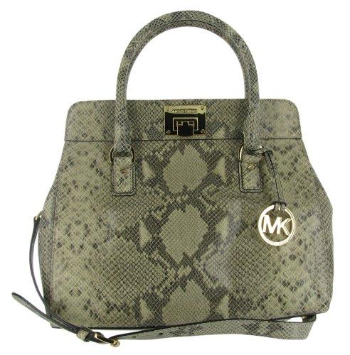 Michael Kors Astrid Women'S Python Leather Shoulder Handbag Bag Purse