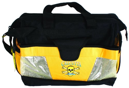 Calcutta Black and Yellow Wide Mouth Tackle Bag