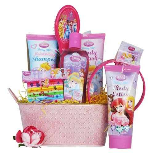 Perfect Birthday Gift, Get Well Basket for Girls Disney Princess Toiletries Basket