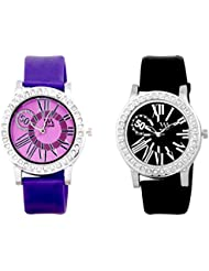 Watch Me MULTI Combo Set Of 2 Analogue Watches Gift For WOMEN WMAL-102PR-102B