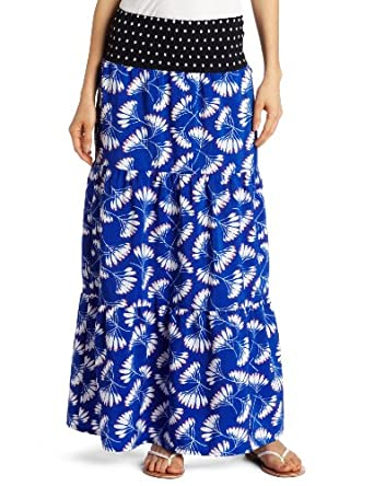 D.E.P.T. Women's Whirling Maxi Skirt, Electric Blue, Small