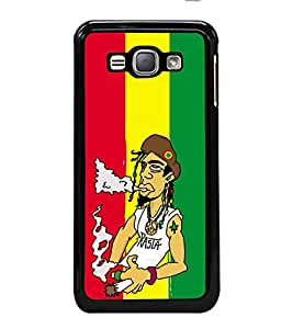 printtech Weed Dude Cool Smoke Back Case Cover for Samsung Galaxy J1 (2016) :: Samsung Galaxy J1 (2016) Duos with dual-SIM card slots :: Galaxy Express 3 J120A (AT&T); J120H, J120M, J120M, J120T