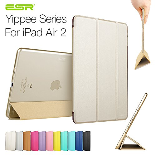 Sale!! iPad Air 2 Case,ESR Yippee Color Series Smart Cover+Transparent Back Cover [Ultra Slim] [Ligh...