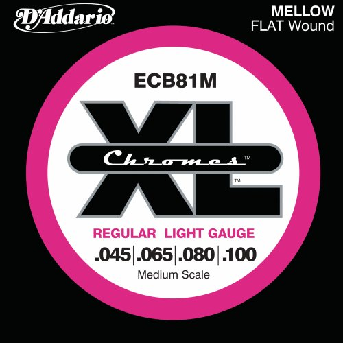 D'Addario ECB81M Chromes Bass Guitar Strings,