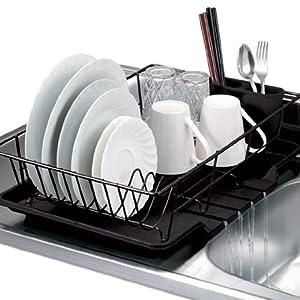 Amazon Com Home Basics 3 Piece Dish Drainer Set 19 Quot X
