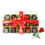 Nice Desserts Truffles Collection With Red Rose - Chocholik Luxury Chocolates
