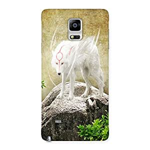 AJAYENTERPRISES Famous White Animal Back Case Cover for Galaxy Note 4