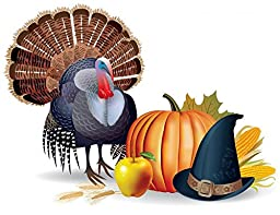 Wallmonkeys Thanksgiving Peel and Stick Wall Decals (12 in W x 9 in H)