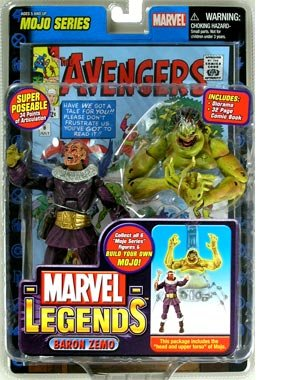 Marvel Legends Series 14  Baron Zemo (Scarred Chase Variant) Action Figure (Iron Man Action Figure )