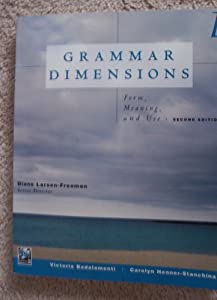 Grammar Dimensions: Form, Meaning, and Use ebook