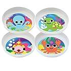 French Bull Kids Melamine Bowl, 5-3/4-Inch, Ocean, Set of 4