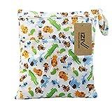 iZiv(TM) Bebé Reutilizable Impermeabilizan Mojado y Seco Bolsa de Pañales del Bebé Bolsa 2 Cremallera Impresión en Bolsa(Animal)