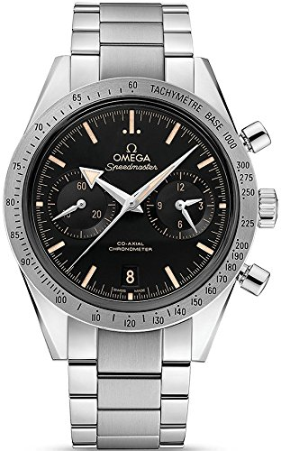 Omega Speedmaster 57 Chronograph Automatic Black Dial Stainless Steel Mens Watch 33110425101002 (Omega Automatic Speedmaster compare prices)